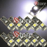 10X Veilleuses LED T10 ampoules 5 smd 5050 Canbus BLANC ANTI ERREUR Lampe Xenon