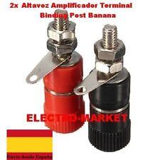 2 x Altavoz Amplificador Terminal Binding Post Banana Plug Conector Hembra