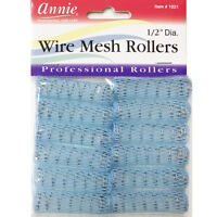 ANNIE WIRE MESH ROLLERS #1021 12 COUNT BLUE X-SMALL 1/2""