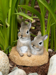 baby Bunny Rabbit outdoor yard garden lawn art decor easter statue sculpture