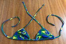 Brasil Brazil Flag Bikini Top Womens Size Large Swim Swimwear
