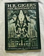 HR Giger - Necronomicon Hardcover Book  _ with Clive Barker & Salvador Dali