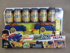 NIP X-Shot Dual Double Pack DART/DISC Blaster 2-Guns, 6-Cans, 8-Darts, 12-Discs
