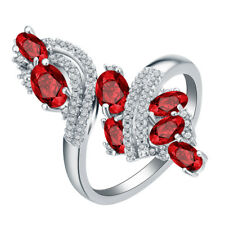 Fashion Women Multi-Color Gemstone Topaz Engagement Wedding Gifts Ring Size 6-10