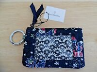 Vera Bradley Iconic Zip ID Case in Holiday Owls Pattern, New w/Tag