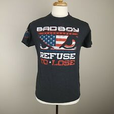 "BadBoy Chris Weidman ""Refuse to Lose"" T-shirt, Mens Small          R0505"