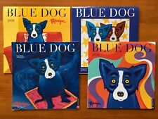 George Rodrigue Blue Dog Calendars 2017, 2018, 2019, 2020 (Excellent Condition)