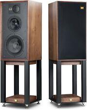 WHARFEDALE LINTON HERITAGE Speakers Pair Audio System Hifi WALNUT FREE SHIPPING