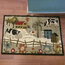 Soft & Plush area rug bathroom kitchen 2' X 3' farm country cow sheep