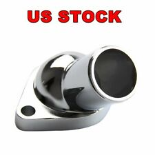 Big/Small Block Chrome Plated O-Ring Water Necks 2660 Steel 15 Degree for Chevy