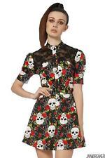 Jawbreaker Womens Skull Web Shirt Dress T-Shirt Dress Alternative Gothic