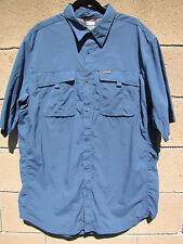 Mens Columbia Shirt Titanium Sportswear Blue Pocket 2XT Nylon Vented Button Down