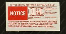 Holden HSV VR VS - SRS Air Bag Under Bonnet Decal Sticker