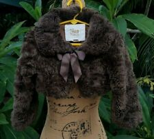 The Children's Place Girls Size 3T Brown Faux Fur Bolero Jacket