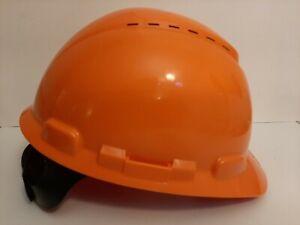 3M Orange 4 Point Ratchet Suspension Hard Hat H-700 Vented Adjustable Sizing