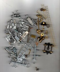 BRASS & METAL HO PARTS EACH BATCH IS IN ITS OWN PLASTIC BAG SOLD AS IS N/U/C