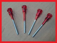 Fiat 126 Lights Plastic Red Head Long Screw - Set of 4 (four)
