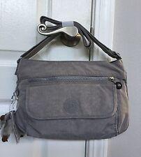 NWT KIPLING Syro Crossbody Bag Purse Slate Grey Gray Nylon Monkey $79