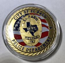 El Paso Texas Police Challenge Coin