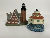 2 Scaasis Lighthouse Genuine Replica 'Thomas Point Shoal' MD & Block Island RI