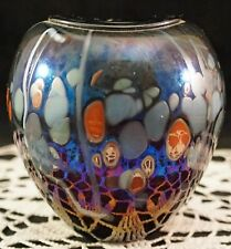 Stunning Bowl / Vase by Canadian Jim Norton (1957 - 2016) Carnival Spatter #2