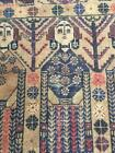 COLLECTORS' PIECE Antique Portrait Wall Hanging Natural Dye Wool on Wool Carpet