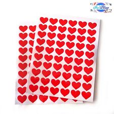 120 Love Heart Stickers 14mm - Mothers Valentines Wedding Cards Letters Gifts