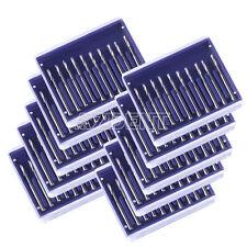 100 PCS Cylinderical Fissure Dental Tungsten Steel Bur Drill FG557 High Speed