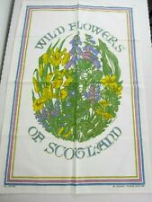 Lockhart Textiles of Scotland Cotton Tea/Dish Towel Wild Flowers of Scotland New