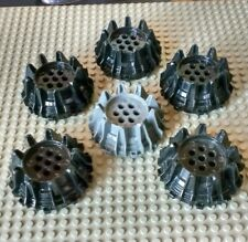 6x Lego Wheels Part 64712 with Small Cleats & Flanges - Power Miners - Ninjago