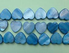 Shell Natural Horizontally Drilled Heart Beads- 20mm x 4mm A Grade - Full Strand