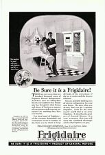 Vintage 1929 Frigidaire Electric Refrigerator (General Motors) kitchen print ad