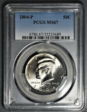 2004-P 50c KENNEDY HALF DOLLAR COIN, PCGS CERTIFIED  MS 67,  SKU-LV16