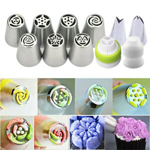 7Pcs Flower Russian Icing Piping Nozzles Pastry Tips Cake Decorating Baking Y LU