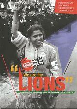 We Are The Lions Grunwick Strike Exhibition advert card Neasden Brent Desai