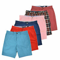 Tommy Hilfiger Mens Chino Shorts Flat Front Custom Fit Slim Bottoms Flag New Nwt