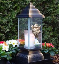 Grablaterne Engel Grablicht Bronze Grableuchte Grablampe Grabschmuck Kerze Lampe