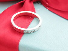 Auth Tiffany & Co Silver I Love You Ring Band Size 5