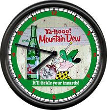Mountain Dew Hillbilly Soda Pop Diner Shop Pop Sign Wall Clock
