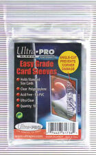 1000 Ultra Pro Easy Grade Card Sleeves Angle Cut prevents Corner Damage 10 Pack