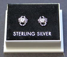 Sterling Silver 925 Stud Earrings   ZODIAC SIGN  CANCER  BUTTERFLY BACKS  BOXED