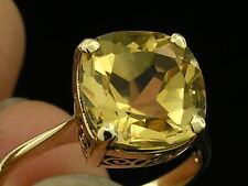 R224 Genuine 9K or 18K Solid Gold NATURAL Citrine Solitaire Ring in sizes J to V