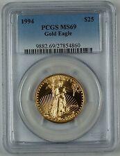 1994 1/2 oz. Gold Eagle $25, PCGS MS-69, Gold American Eagle, GEM Coin