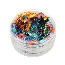 New 12 Pots Glitter Silver Gold Paillette Flake Chip Foil Nail Art Tips Decor