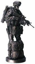 "Summit Collection US Army Paratrooper 12.5"" Bronzed Statue #8087 Modern Warfare"