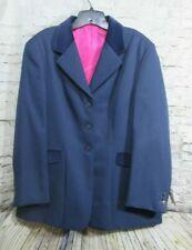 Fuller Fillies Equestrian Blazer Women Buttoned Jacket Blue Color Size 16 New #S