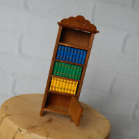 Vintage Fomerz Wooden Dollhouse Miniature Bookcase Japan 1:12 Scale W/ Books