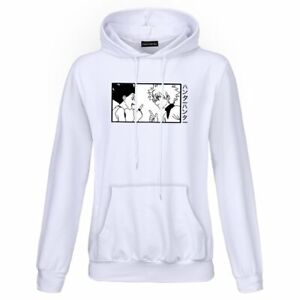 Hunter X Hunter Gon Killua Anime Manga Unisex Hoodie Size Medium White NEW Comic
