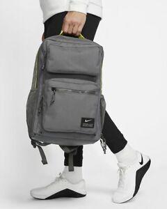 Nike Utility Speed Training Backpack CK2668 068 Iron Grey/Enigma Stone New