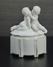 Art Deco Neu Tettau Putten Kinder kids porcelain box an cover ~1930